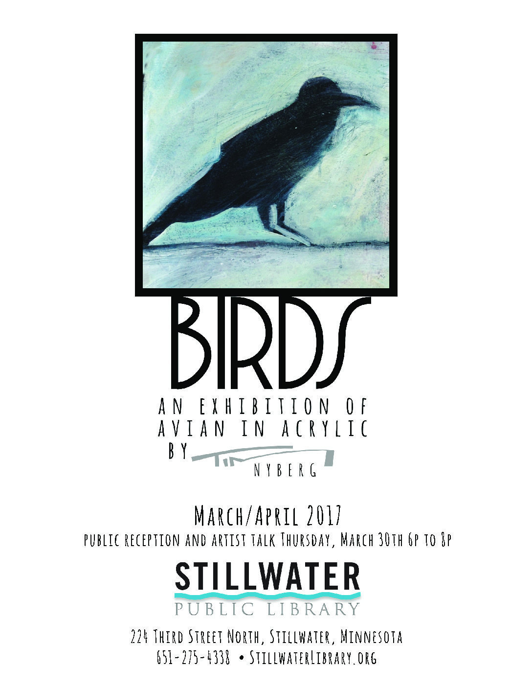 Artist Reception: Birds: An Exhibition of Avian in Acrylic