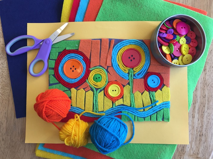 Felt Collage Class for kids