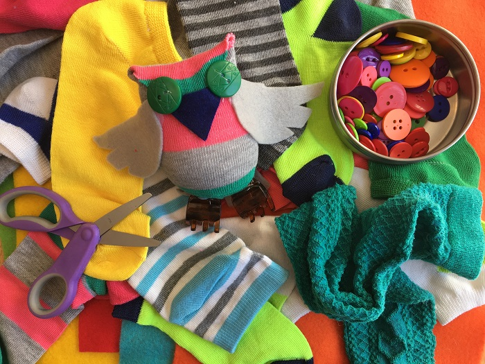 Owl Sock Sculptures – for kids