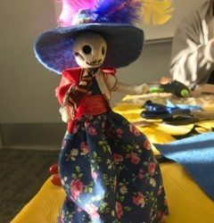 Celebrating Dia de Los Muertos-Wire and Clay Sculptures